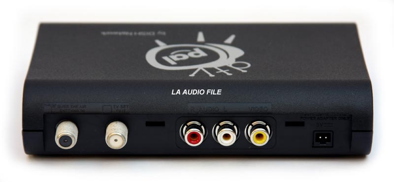 tv converter box. the converter box is designed to accept an rf antenna signal containing atsc modulated digital information. output uses channel 3 or 4 tv