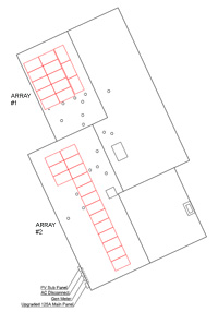 Roof Layout - 2 Arrays