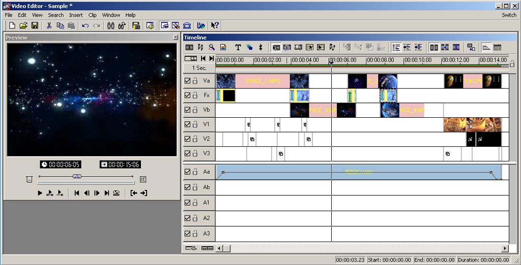 The Video Editor is where all of the elements created with the MediaStudio Pro