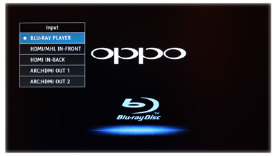 Oppo BDP-103 Input Select