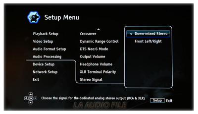 Audio Processing Menu