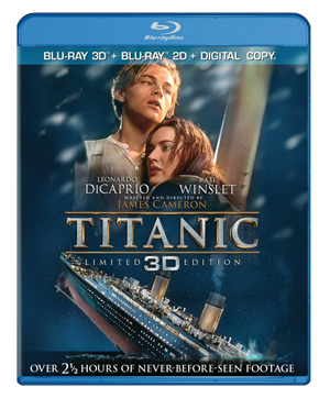 Titanic 3D Bluray